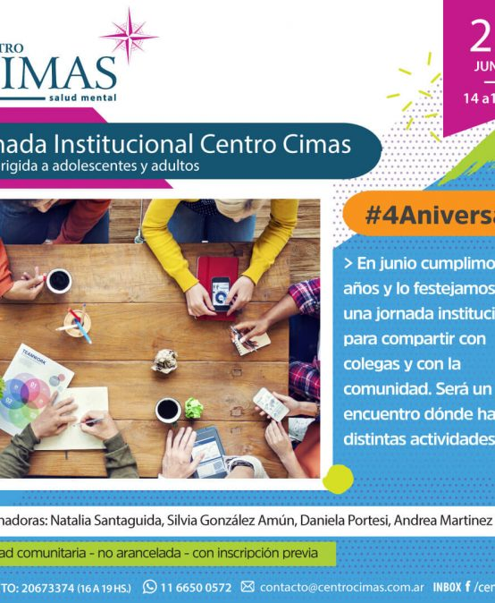 Jornada Institucional Centro Cimas – #4aniversario