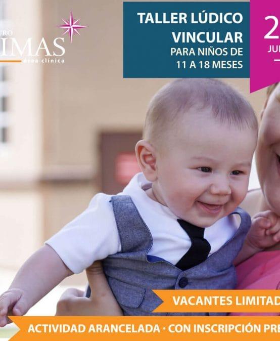 Taller lúdico vincular para niños de 11 a 18 meses